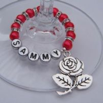 Personalised Wine Glass Charms - Full Sparkle Style